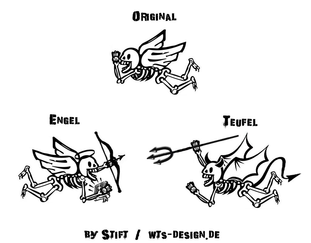 Teufelchen & Engelchen Tattoo