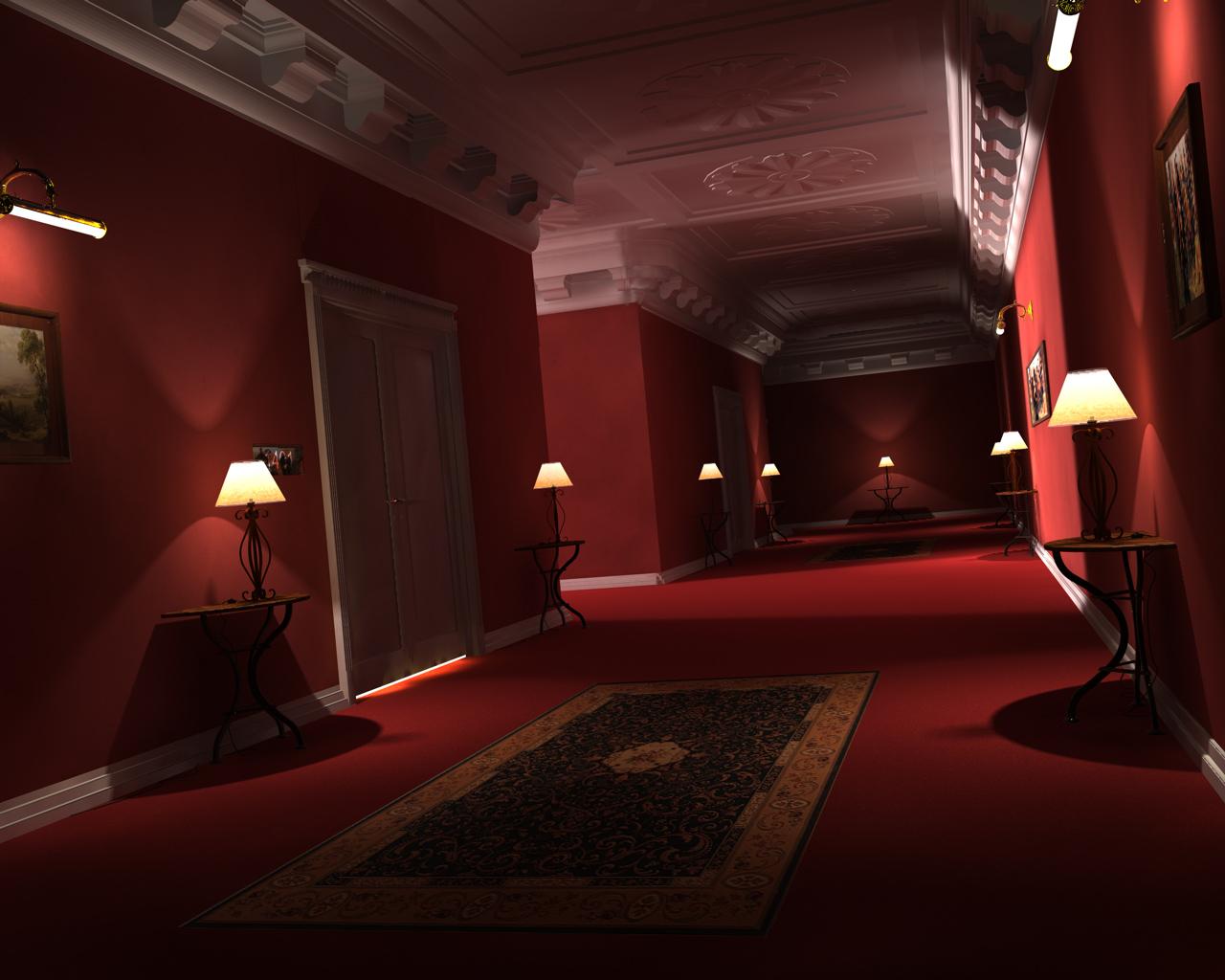 Hotel flur rendering ohne blur