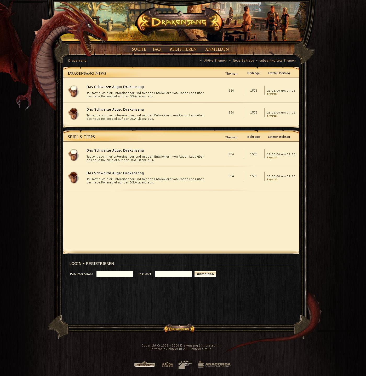 Drakensang Forum