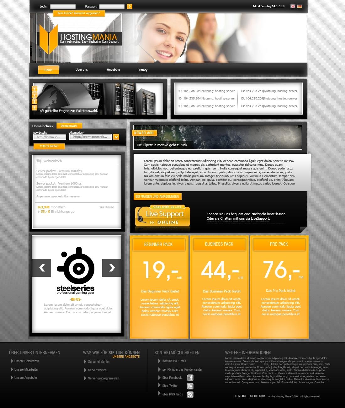 Webhosting Template