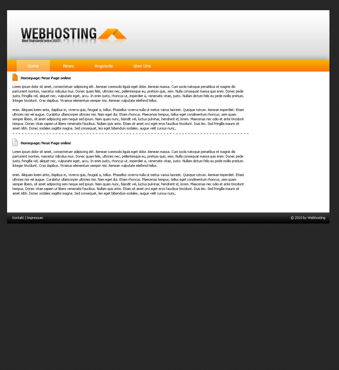 Simples Webhosting Template