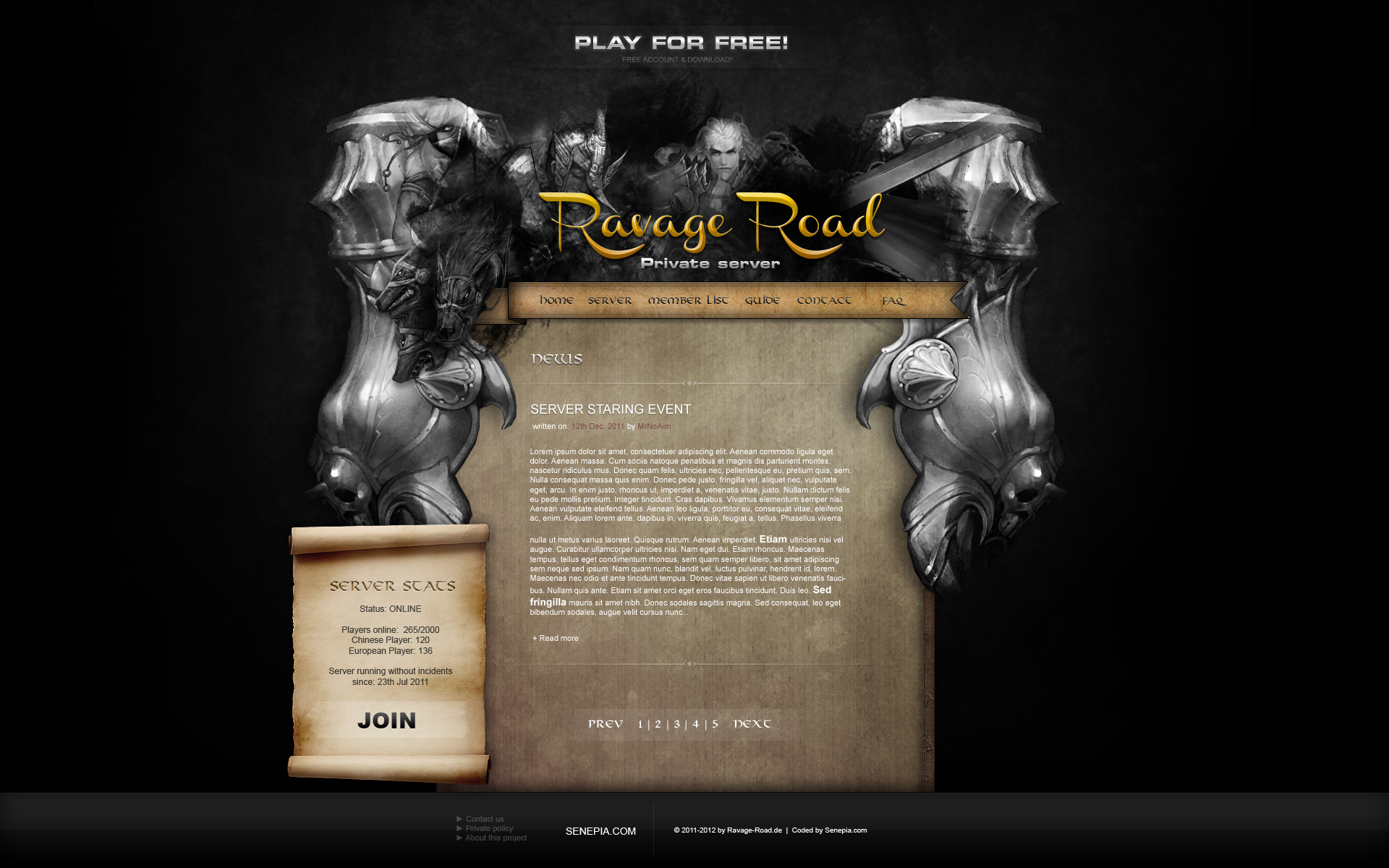 Ravage Road 2nd Template
