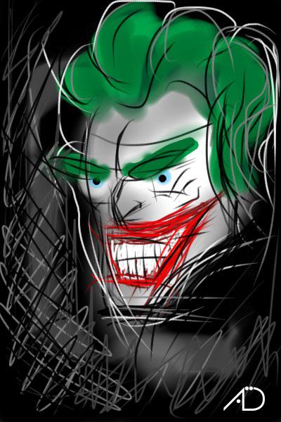 Joker gemalt mit IpodTouch 2G xD