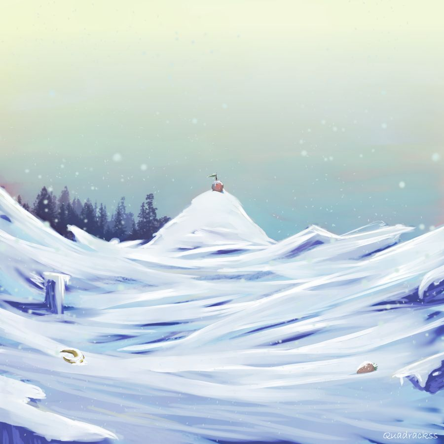 Obst im Schnee