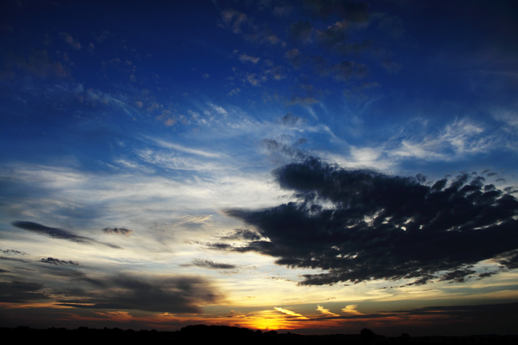 natürliche Malerei 3 - der Sonnenuntergang