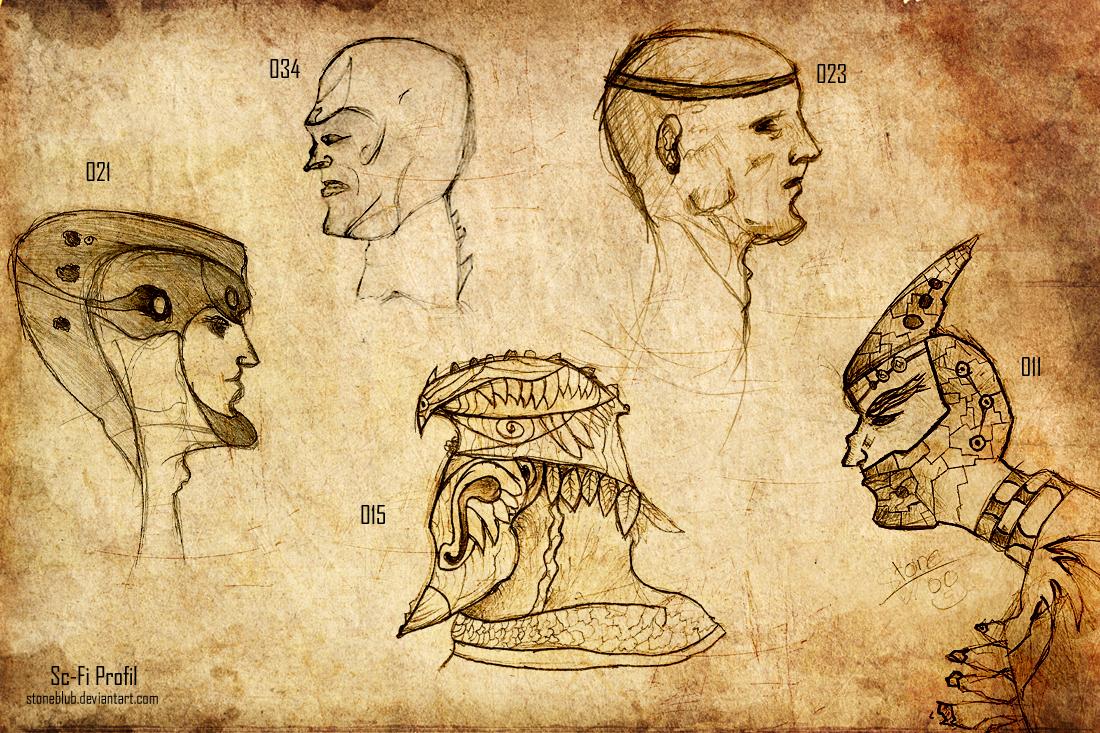 Sc-Fi Head Konzept (Profilansicht)
