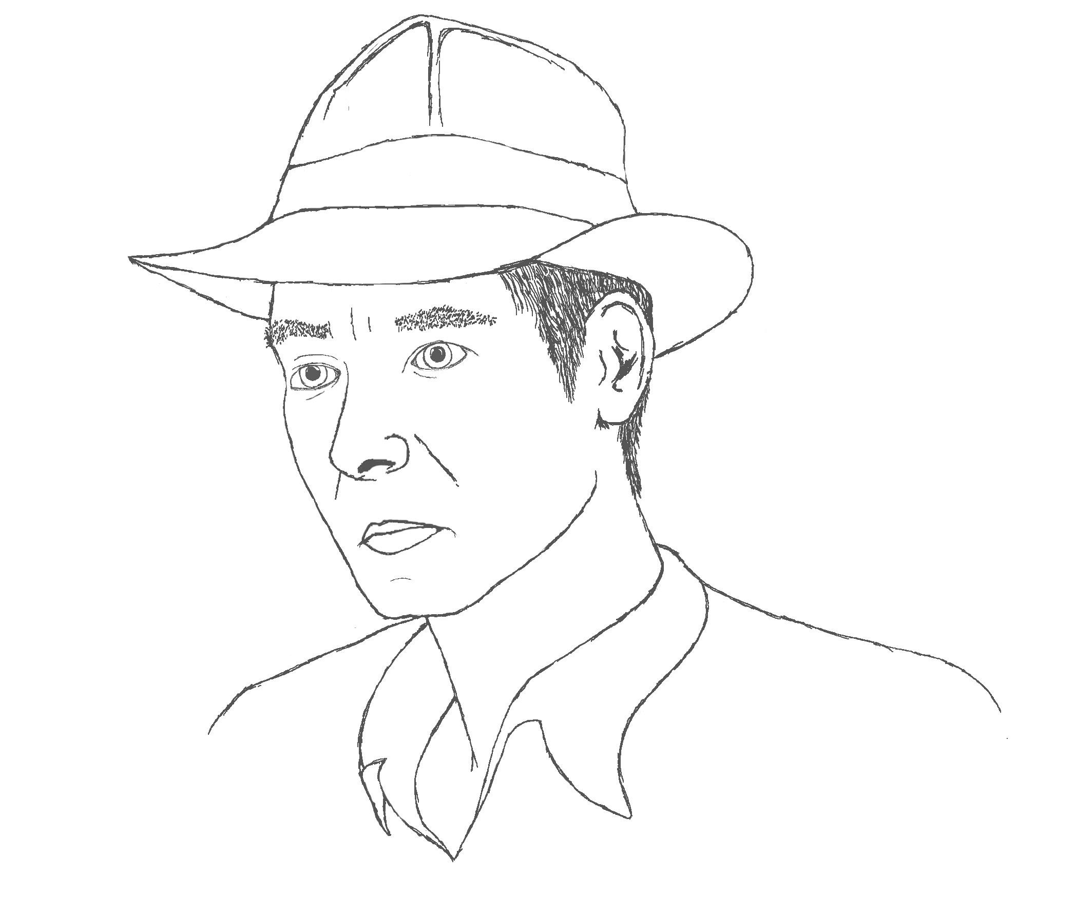 Grafiktablett Testphase: Typ mit Hut