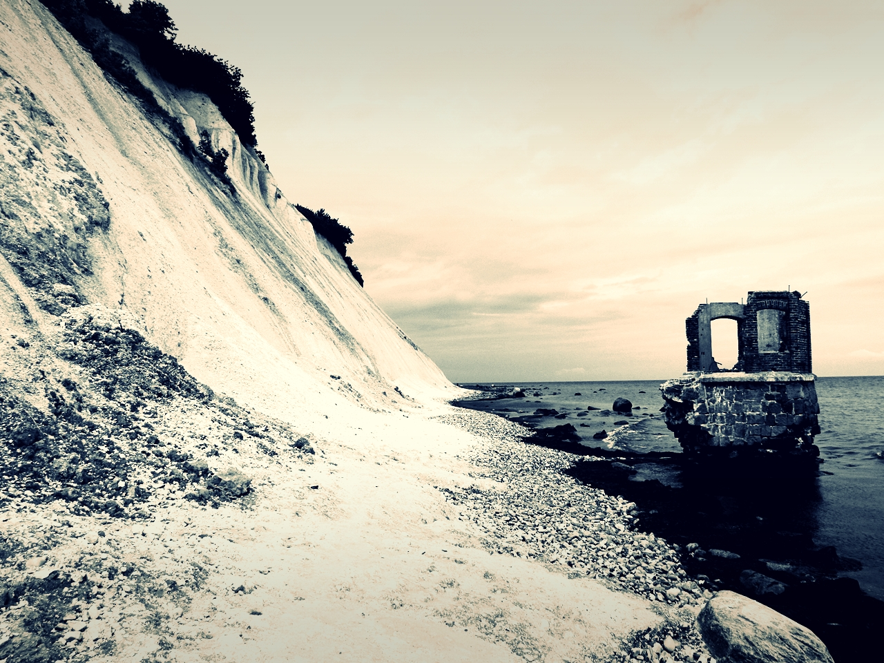 Die Ruine des Pegelturms in Kap Arkona 2
