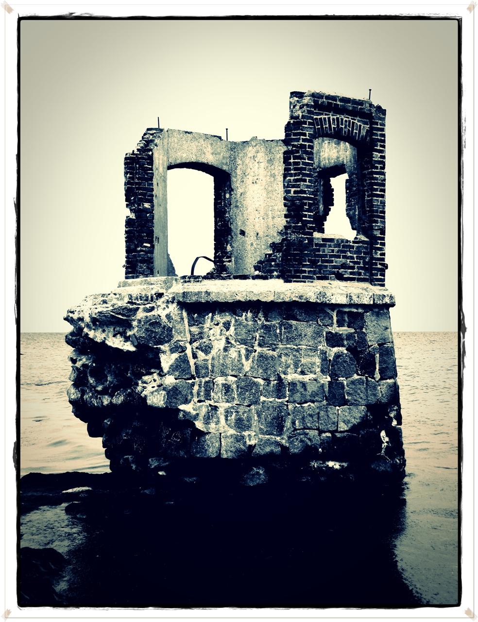 Die Ruine des Pegelturms in Kap Arkona